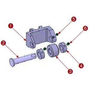 111-20 Center Roll Holder Assembly