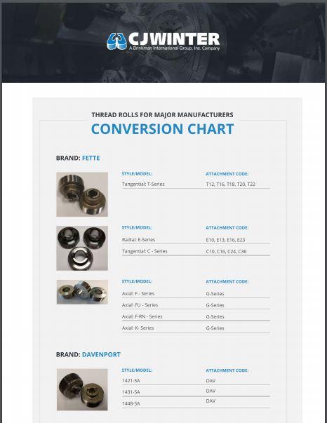 Thread Roll Conversion Chart